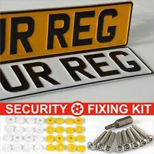 Pair Standard Metal Pressed Number Plates MOT UK Road Legal Car Registration Alu