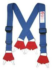 Morning Pride Sp-Dfq-L Fire Fighting Pant Suspenders, Blue/Red, Non Flame
