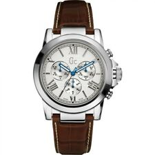 Gc Men B2 Class Chronograph Watch with Leather Strap