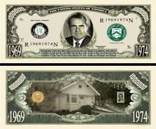 37th President Richard Nixon Million Dollar Funny Money Novelty Note + SLEEVE
