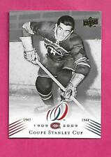 2008-09 UPD CANADIENS CENTENNIAL # 181 MAURICE RICHARD STANLEY CUP(INV# C3341)