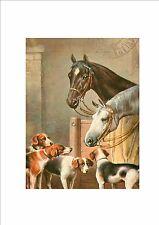 Style vintage cheval et chien design style rétro signe cuisine bar wall sign