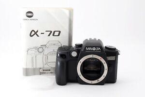 Minolta α-70 35mm SLR Film Camera Body For A Mount Rare Excellent MIJ #7244