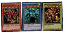 Yugioh Götterkarten Set, Sliver, Obelisk, Ra, Ultra Rare, Limitiert YGLD Deutsch