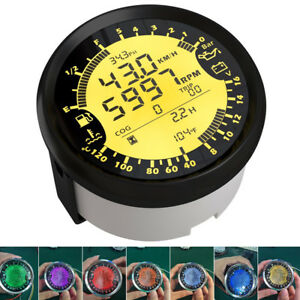 6in1 Digital Car GPS Speedo Tacho Indicator Odo Volt Fuel Water Temp Gauge 85mm