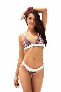 Mapale Burgundy Prints Bikini