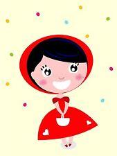 ART PRINT POSTER NURSERY FAIRY TALE LITTLE RED RIDING HOOD KIDS BEDROOM LFMP0823