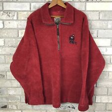 Marc Tetro Canada Vintage Nubby Fleece Pullover Size XL Hockey Maple Leaf Vtg OG