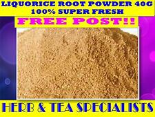 LIQUORICE ROOT POWDER 40g TEA ☆100% FRESH LICORICE☆Glycyrrhiza glabra☆DRIED HERB