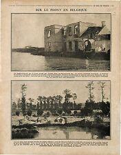 Bombardement Deutsches Heer Gare de Ramscapelle Ramskapelle Nieuport 1914 WWI