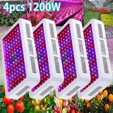 4PCS 1200W LED Grow Light Panel Full Spectrum Lamp Bulbs for Indoor Plant Garden