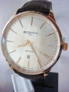 Brand New RODANIA Men's Zermatt 42mm Swiss Watch Gold 2516433