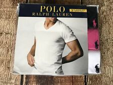 Polo Ralph Lauren Classic Fit V-Neck T-Shirts 3 Pack Pink Multi Mens Large New