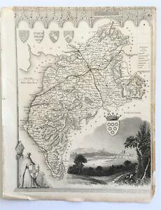 Antique Map 'Cumberland' Thomas Moule c.1840