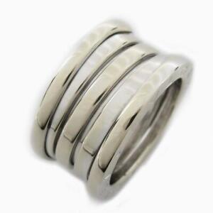 BVLGARI B-zero1 ring bague M size #10 18K 750 White Gold Used