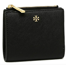 Tory Burch 52902 Emerson Saffiano Leather Mini Wallet Black