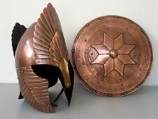 Reenactment Medieval Greek Armour Elindil Helmet With Shield Role Play Best Gift