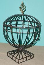 PLANT STANDS PATIO PORCH INDOORS OUTDOORS METAL BLACK GOLD VINES FLOWERS DECOR
