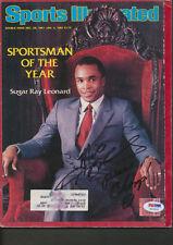 Sugar Ray Leonard Signed Sports Illustratated Magazine PSA/DNA Autograph W29635