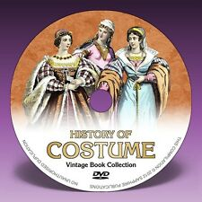 COSTUME HISTORY - 101 Vintage Fashion & Dress Books on DVD!