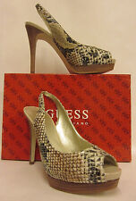 Guess Chandrika 3 Natural Multi-Synthetic Heel - Size 9