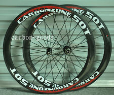 700C 3k Glossy / decals Full Carbon Road Bike 50mm Tubular bicycle wheelset 21mm