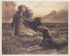 Scottish Deerhound Print,The Viking Daughter