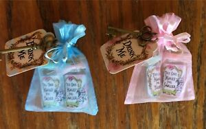 Alice in Wonderland  6 drink me tiny bottles in organza bags party favors