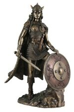 Veronese Bronze Figurine Viking Soldier shield maiden warrior statue Lagatha