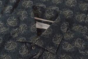 NWOT Tintoria Mattei 954 Size Medium Men's Dress Shirt Blue Paisley Contemporary