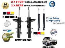 pour BMW E83 X3 + xd rive 2004- > 2 x AVANT + 2 x arrière 4x4 AMORTISSEUR SET