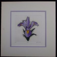 "Dan Mitra Signed and Hand Colored ""Iris"" Etching Limited Edition"
