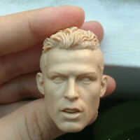 """Blank 1/6 Scale Football Star Cristiano Ronald Head Sculpt Unpainted Fit 12"""""""
