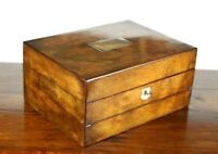 Antique Victorian Walnut Writing Slope Stationery Box - FREE Shipping [PL4786]