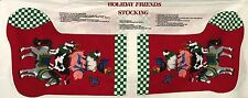 """Cotton Quilt Fabric Christmas Holiday Friends Stocking Cranston  by  17"""" x 44"""""""
