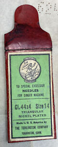 collectible excelsior needles pack for singer sewing machine, very old - t2.2.7