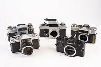 Lot of 5 Vintage SLR Film Cameras Kowa Zenit Miranda for PARTS REPAIR V10
