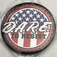 Dare To Resist Pin Button Pinback Anti Drug New in Package Vintage D.A.R.E