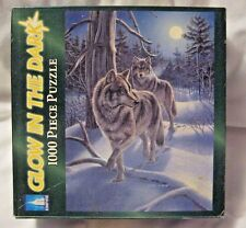 Empire GLOW IN THE DARK 1000 pc WOLF 'MOONWALK' Jigsaw Puzzle Game