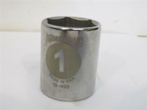 """Armstrong 12-032, 1"""" Standard Socket, 1/2"""" Drive, 6 Point"""