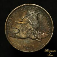 1858 SL (small Letters) Flying Eagle Cent 1c Penny Free Shipping! 040821-02E