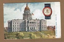 Denver, CO Colorado,Tuck Oilette State Capitols #2454 series used 1911