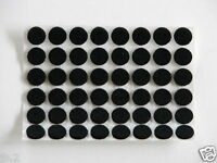 "96 Felt Bumpers Bumpons, Black, Adhesive Backed, 1/8 ""H x 1/2""Dia."