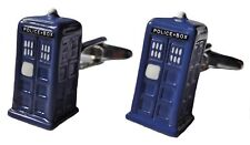 Doctor Who TARDIS POLICE BOX 3D Metal/Enamel CUFFLINKS