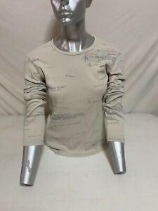 T-SHIRT CALVIN KLEIN SWEATSHIRT POLO DONNA WOMAN SHIRT BEIGE CR-12