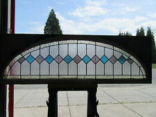 ~ ANTIQUE AMERICAN STAINED GLASS TRANSOM WINDOW  ~ 70 x 22 ARCHITECTURAL SALVAGE