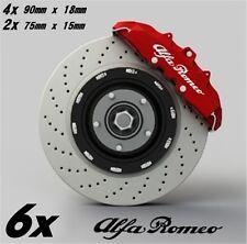 6x Alfa Romeo Aufkleber für Bremssättel  Emblem Logo