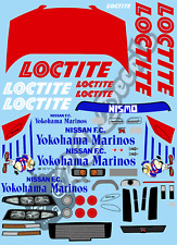 1/10 Touring Car Decal Set Nissan Skyline GTR Loctite 1995 - Tamiya