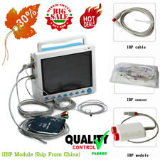 FDA&CE 12.1 inch Portable ICU Patient Monitor Vital Signs 7 Parameters IBP Free