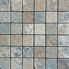 Antique Onyx 2x2 Tumbled Travertine Tile Floor and Wall (SAMPLE SWATCH)